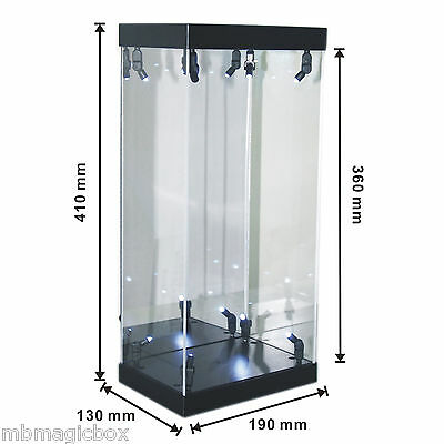 """Acrylic Display Case LED Light Box for 12"""" 1/6th Scale Hot Toys Star Wars Figure"""