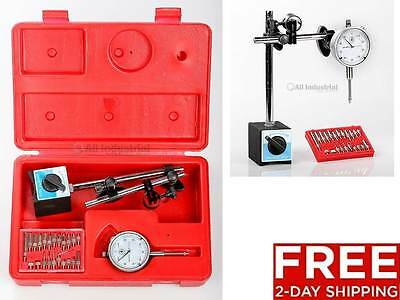 New Dial Indicator Magnetic Base & Point Precision Inspection Set 2-Day Shipping