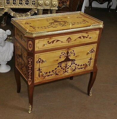 French Empire Chest Drawers Cabinet Commode Marquetry Inlay