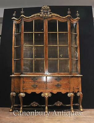 Antique Walnut Display China Cabinet Libertys of London Bookcase 1890