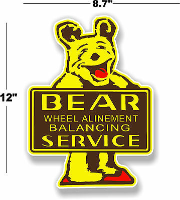"""12"""" Bear Alinement Decal To Make Man Cave Station Gasoline Pump"""
