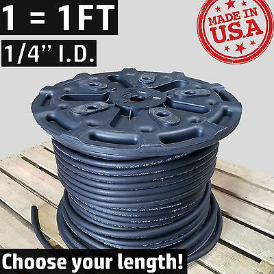 "1/4"" Synthetic Rubber -4 AN Fuel Line Coolant Push-On Air Hose Push Lok Loc Lock"