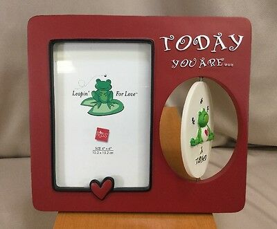 "Russ ""Leapin' For Love"" 4x6"" Picture Frame -Frog ""You Are My Prince/A Toad"""