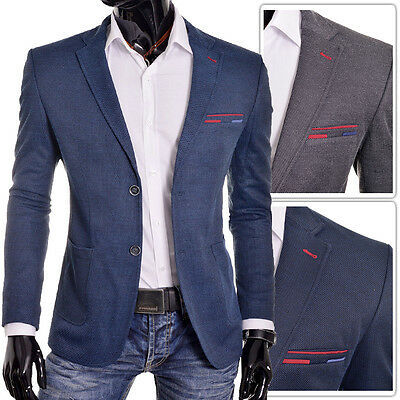 BLUE Beige Men Blazer Casual Look Slim Fit Two Buttons Quality Finish FREE POST