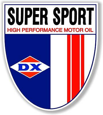 "(Dx-Oil-2) 12"" Dx Super Sport Gasoline Oil Pump And Lubster Decal"