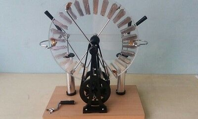Large Wimshurst Machine Physics Electrostatic Generator Static Electricity Tesla