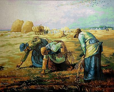 """Gobelin Tapestry Needlepoint Kit """"The Gleaners"""" embroidery printed canvas 561"""