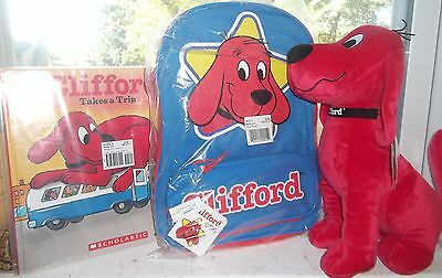 Clifford Back Pack, Stuffed Toy and Book