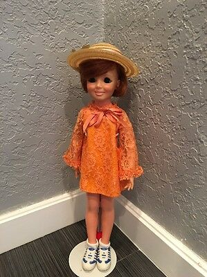 """1968 Ideal Toy Corp Chrissy Doll Red Hair 18"""""""