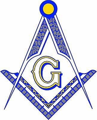 Masonic Square and Compasses Decal