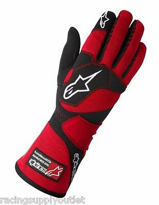 Alpinestars Tech-1Z   Nomex  Auto Racing Gloves   Red   Size Small    NEW