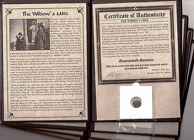 "1-Promo -  Grade ANCIENT ROMAN COIN ""WIDOW'S MITE"" LEPTON  Large Album with COA"