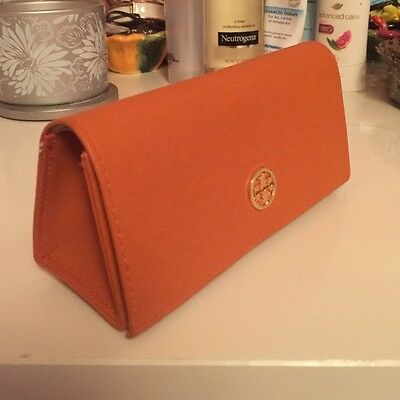 New Tory Burch Original Genuine Sunglasses Eyeglasses Traditional Orange Case