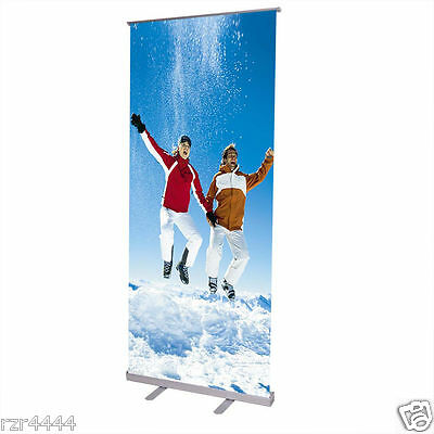 """32x79"""" Retractable Roll Up Banner Stand Trade Show Conference"""