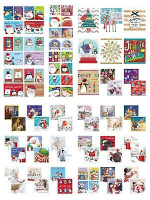 12/20/32 Pack Of Christmas Cards School Teacher Winter Cute Religious