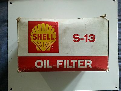 Vtg☆Shell Oil Filter S-13☆Nos In Original Box