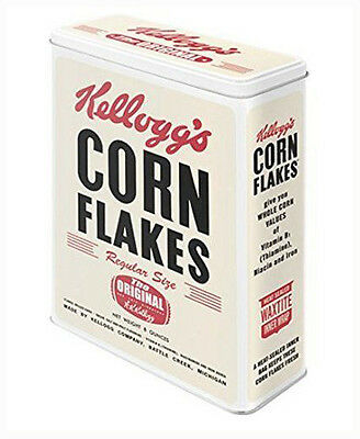 XLarge Retro Storage Tin Metal Box KELLOGG'S CORN FLAKES Cereal Licensed 4Ltr