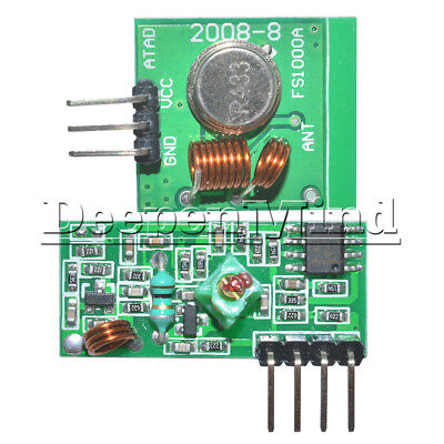 433Mhz RF Transmitter And Receiver Link Kit For Arduino ARM/MC​U Remote Control