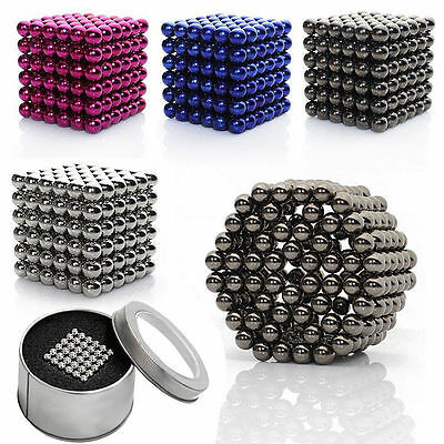 3/5mm Cube Magnetic Magnet Bucky Balls Kids Adult DIY Toys Spacer Beads Jewelry