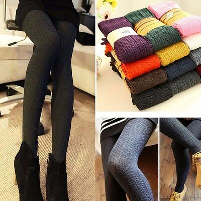 Fashion Women Winter Thick Knitted Pantyhose Stockings Cotton Warm Long Socks
