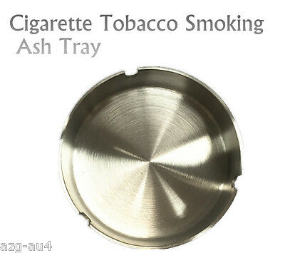 Large ASHTRAY Stainless Steel Cigarette Tobacco Cigar Smoking Ash Tray D=12