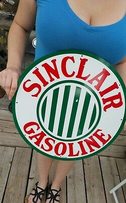 Antique Vintage Old Look Sinclair Gasoline Sign