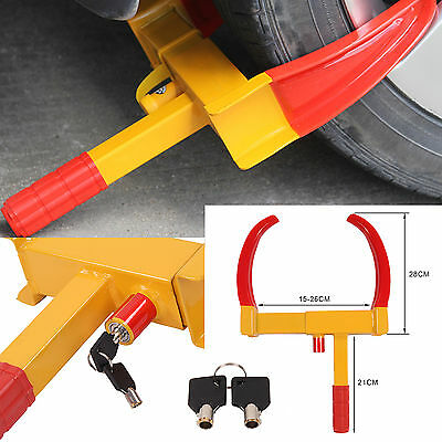 New Heavy Duty Key Lock Car Caravan Trailer Security Wheel Clamp Lock