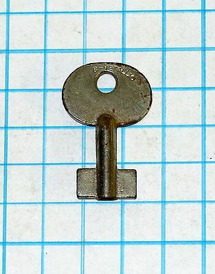 Antique Vtg old Uncut Blank Unused Double Bit 8 Eight Lever Padlock Lock Key