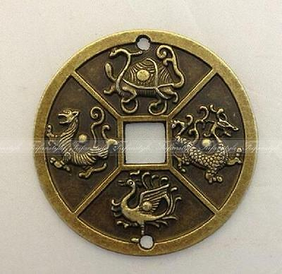 1PC Chinese Four Celestial Animals Coins Feng Shui old china coins free shipping
