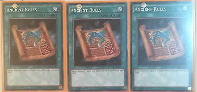 Playset 3 X Ldk2-Enk27 Ancient Rules 1St Edition Mint