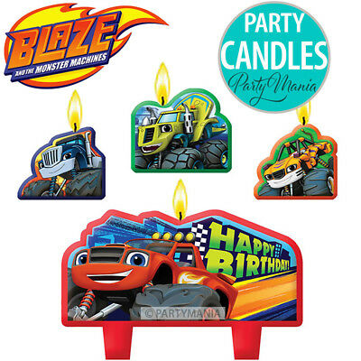 Blaze Monster Truck Car Racing Party Supplies Decorations Birthday Candle Set
