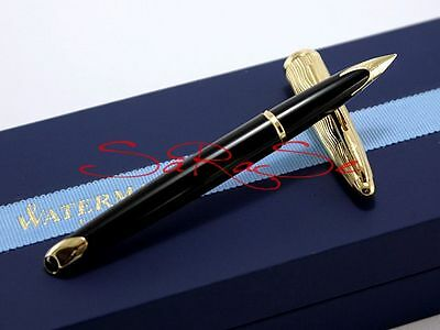 Waterman Carene Füller Fountain Pen Lack Schwarz Black & Gold Edel