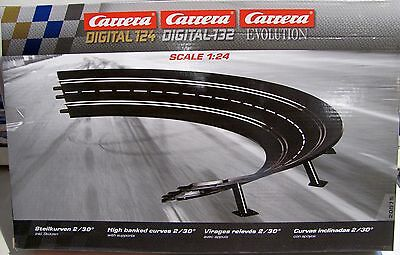 Carrera Steilkurve Radius 2/30° für Evolution/Digital 124/132 -20575 NEUWARE