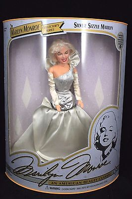 "COLLECTOR'S SERIES NEW IN BOX 1993 Marilyn Monroe Doll ""Silver Sizzle Marilyn"""