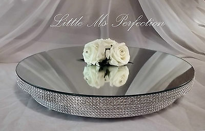Diamante Crystal Mirror Plate - Cake Stand - Wedding Table Centre Piece