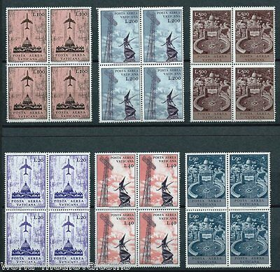 VATICAN Complete Set. in block 4 , 1967 Air Post Stamps MNH