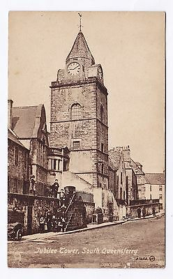 P2838 Original old postcard of Jubilee Tower, South Queensferry