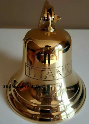 Antique Brass Wall Bell Titanic Ship's School Pub Last Orders Dinner Door 5 inch