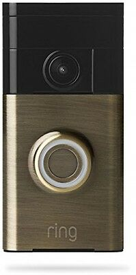 Ring Wi-Fi Enabled Video Doorbell - Antique Brass