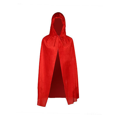 Velvet Hoodie Long Cloak Cape Pagan Witch Wicca Vampire Halloween Dress Costume.