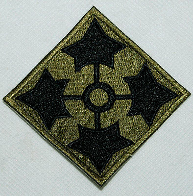 U.s. Army 4Th Infantry Division Shoulder Embroidered Patch-1692