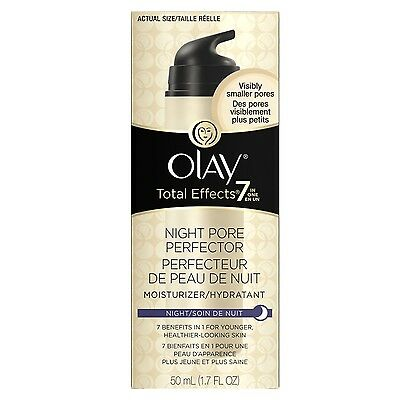 Olay Total Effects 7 Night Pore Perfector Moisturizer, 50 ml/1.7 oz - NEW