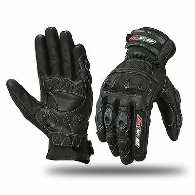 VENTED Summer Motorbike Motorcycle Gloves Racing SPS Protection Knuckle Leather