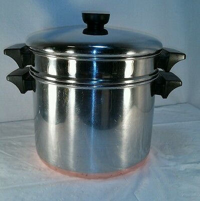 Revere Ware 5 Quart Stockpot with Steamer & Lid Clinton