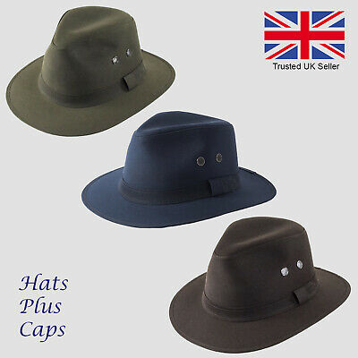 5b925cc2 British Wax Cotton Failsworth Fedora Waterproof Fishing Walking Drifter Hat