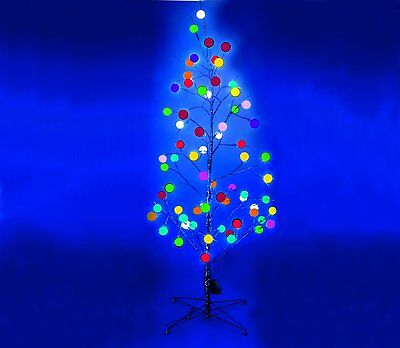 Clearance Festive 1.20m 4ft Fibre Optic Twig Tree With Colour Changing Led