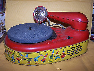 Tin Toy Electronic Phonograph - Lindstrom Corp. Model N 777