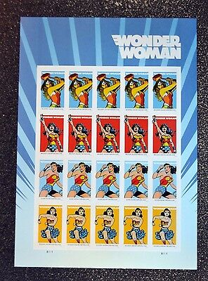 2016USA #5147-5150 Forever - Wonder Woman - Mint Sheet of 20  comic  postage