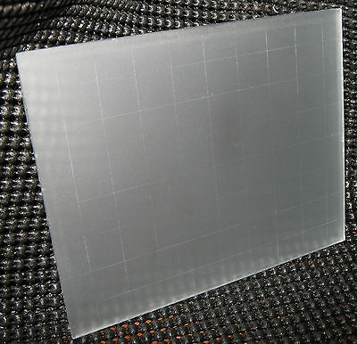 New Ground Glass Focusing Screen With Grid for Graflex Pacemaker 4x5 Cameras