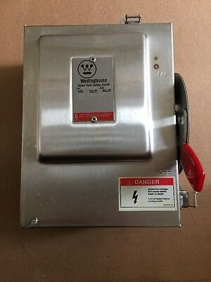 New Westinghouse 3P 30A 240V Fusible Disconnect Switch WHFN321 Nema 4X Stainless
